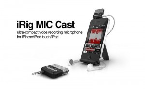 IK Multimedia iRig Cast voice recording microphone