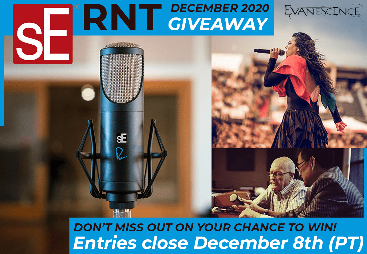 Your chance to win sE's Premium Tube Condenser: The RNT Mic Giveaway!